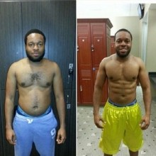 5 months of Self Challenge Weight Loss Transformation