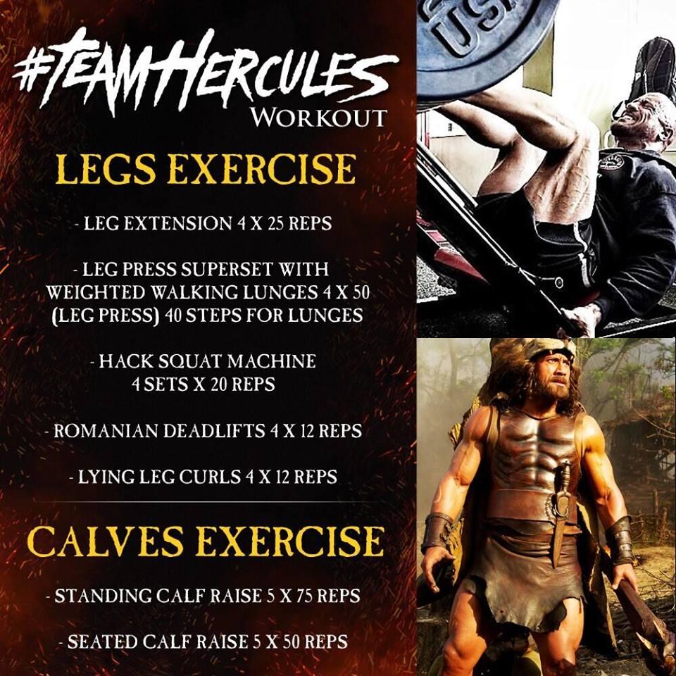 the rock leg workout routine