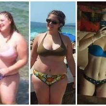 Female 1 Year 80 Pound Loss Transformation