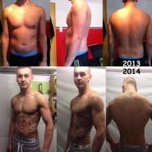 Anton Schlegel 1 Year Body Transformation