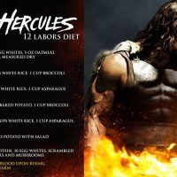 The Rock's Diet for 6 months Shooting HERCULES Movie