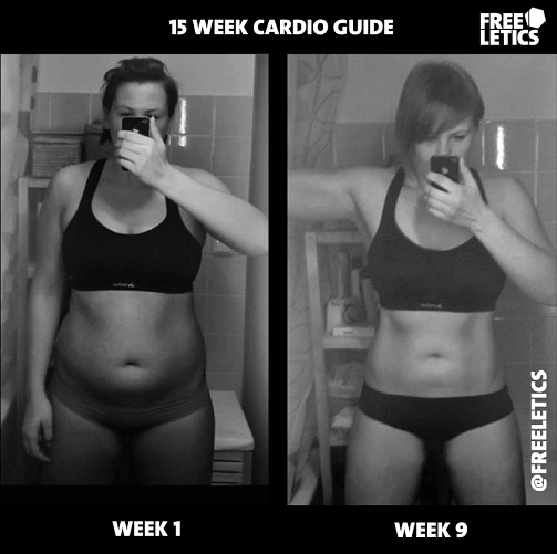 9 Week Freeletics Female Transformation