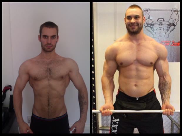 Russell Barnard 74 Pound Gained Muscular Transformation