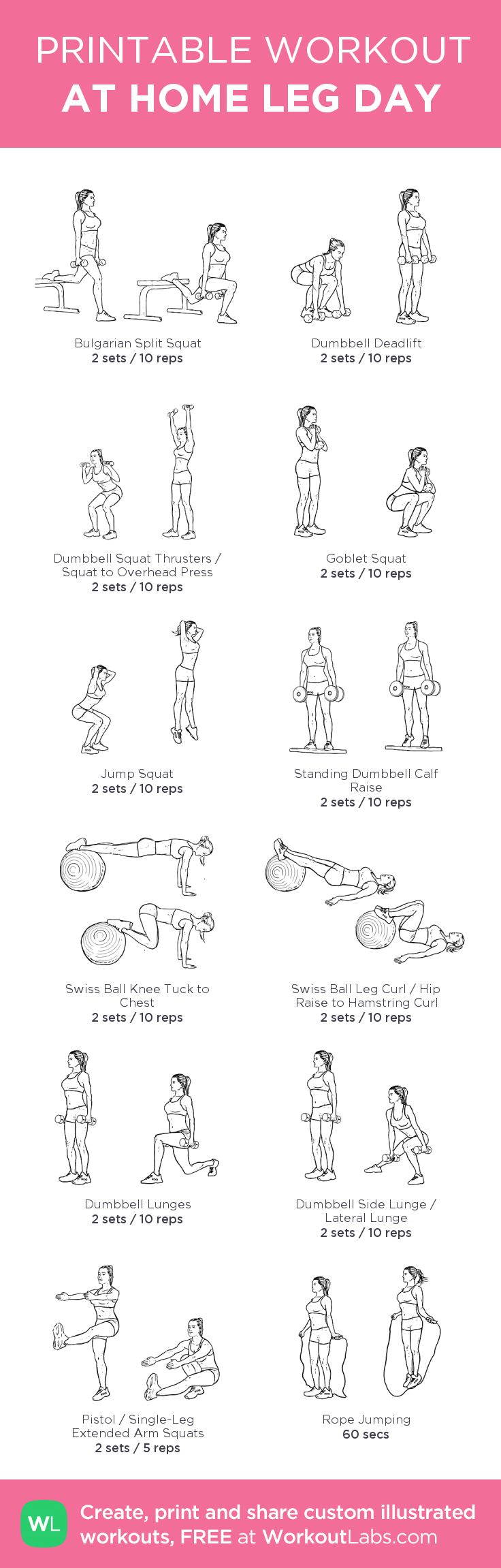 leg day female workout