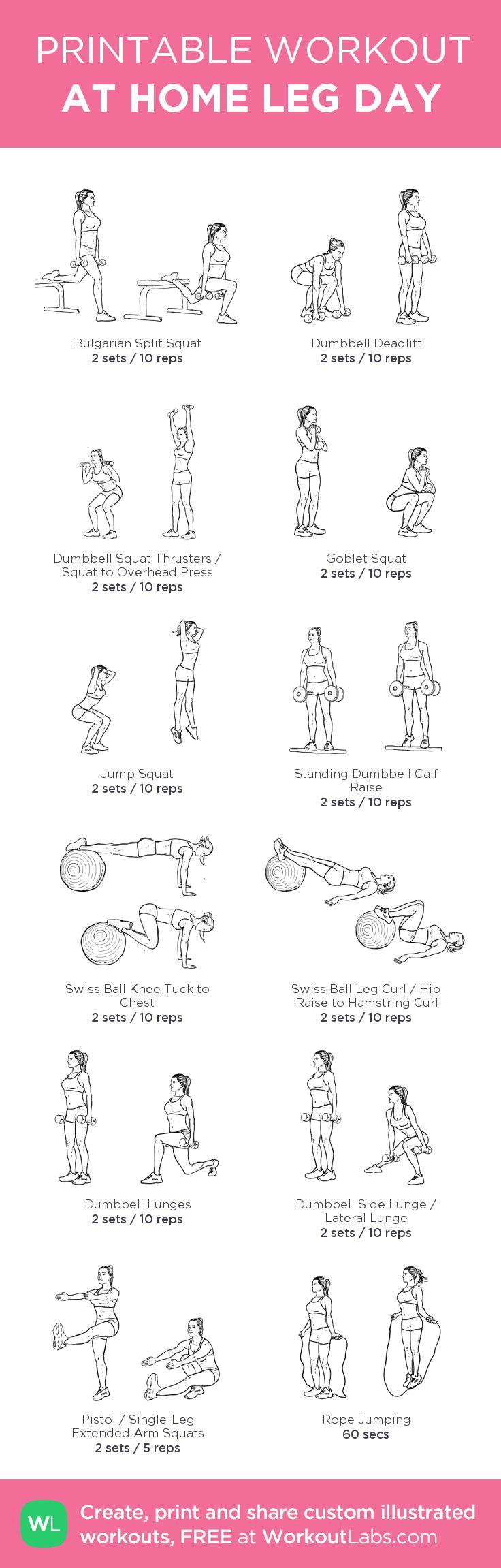leg day female workout