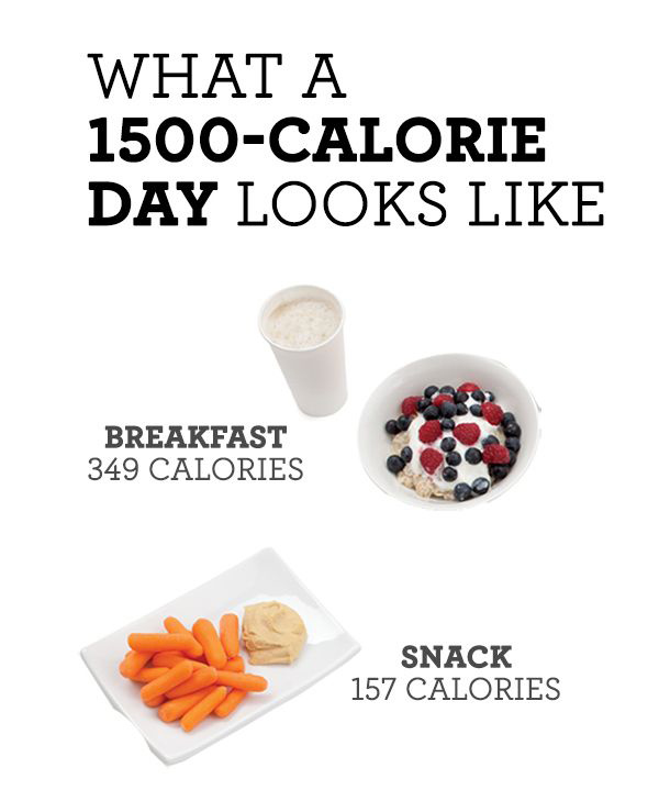 Lose Weight with Only 1500 Calorie Diet Infographics
