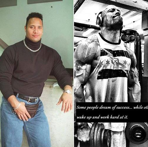 The Rock Dwayne Johnson Body Transformation