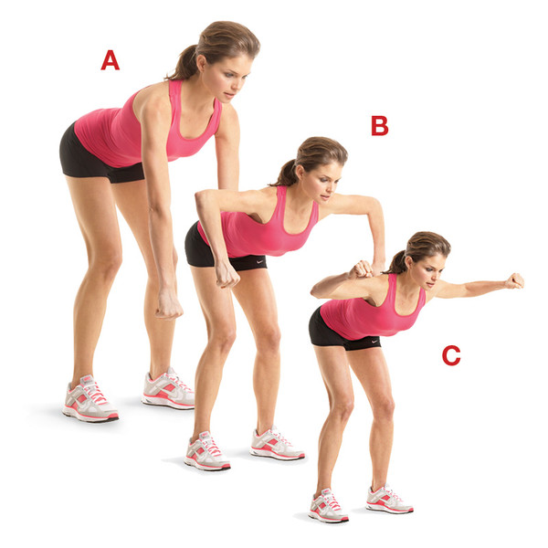 Bent-Over Row with L-Raise