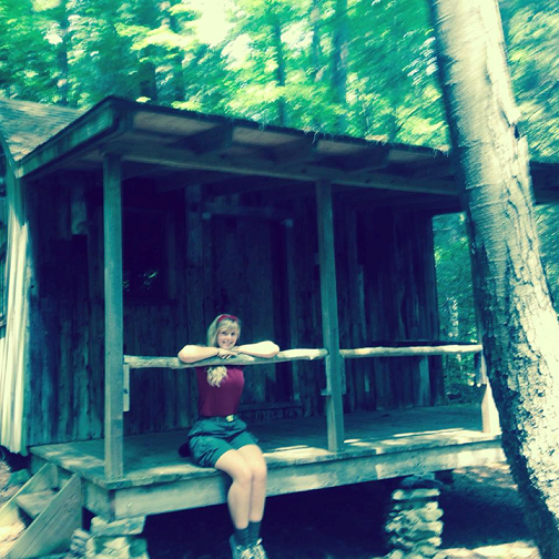 This is me at the boy scout camp i work at during the summer, Camp Sequassen in Connecticut teaching art and fingerprinting, woodcarving, and sculpture