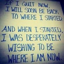 IF I QUIT Motivation Quote