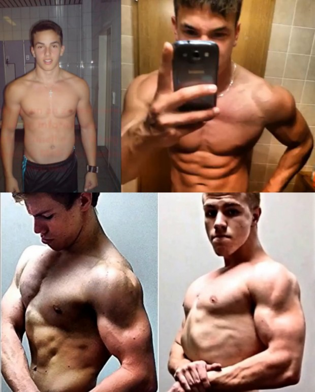 5 Epic Teen Shredded Body Transformation 2013 to 2014