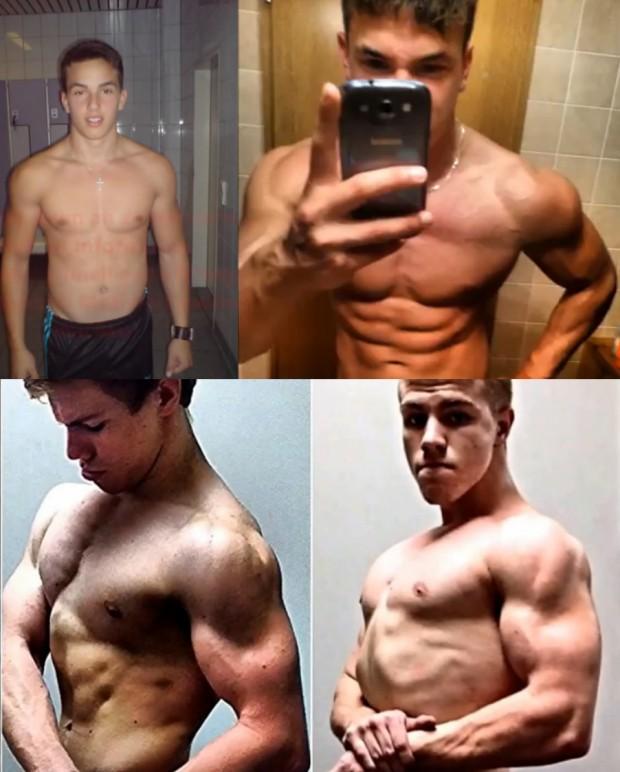 5 Epic Teen Shredded Body Transformation 2013 to 2014