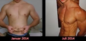 oscar 6 month body transformation