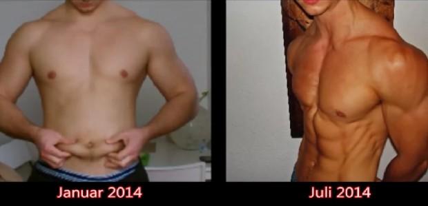 Oscar 6 Month Body Transformation Fat to Shredded
