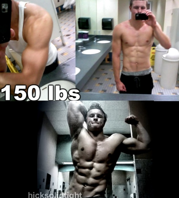 5 year of Training HARD from 135 lbs to 210 lbs of Muscle