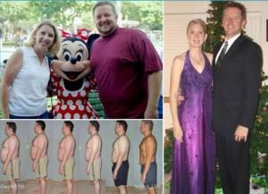 couple fat loss transformation