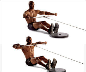 The anatomy of wide grip and close grip seated cable row for Floor underhand cable fly