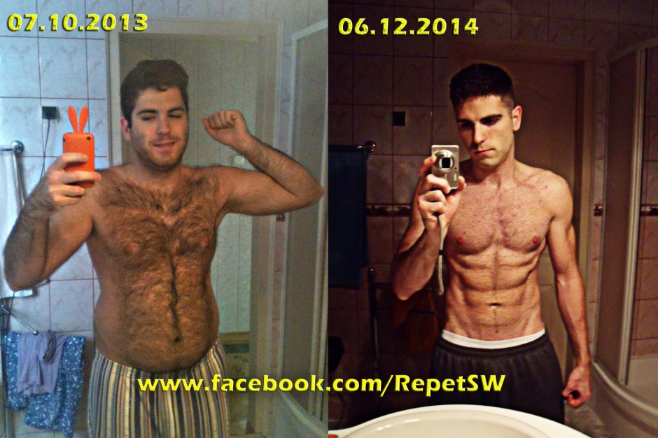 men fat loss transformation