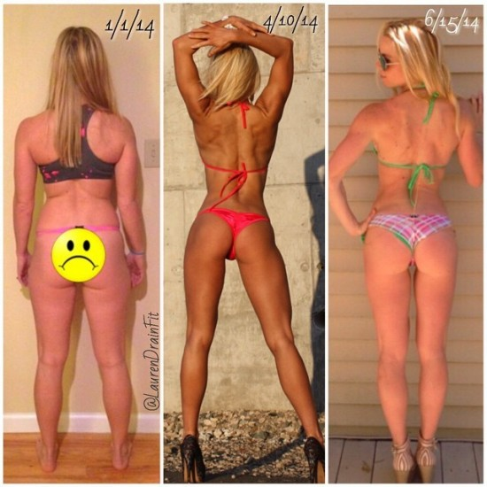 Month Body Transformation for Pinterest