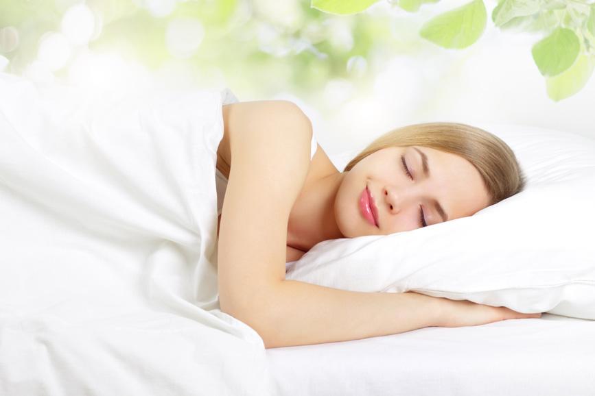 Sleeping Girl on the bed