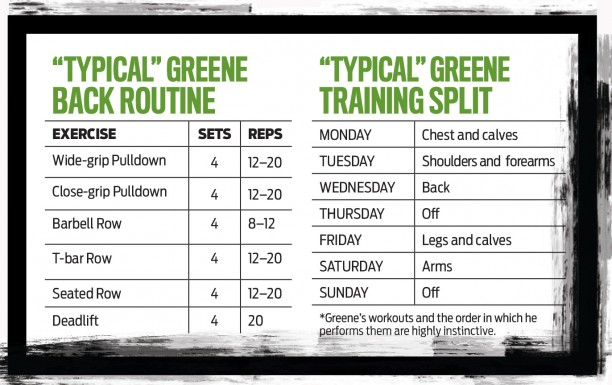 Kai Greene Back Workout Routine Program Chart