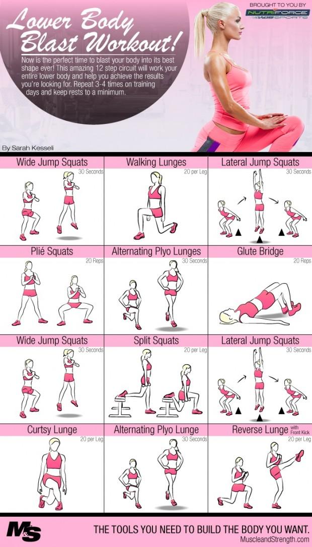 Intense Lower Body Blast Circuit Workout