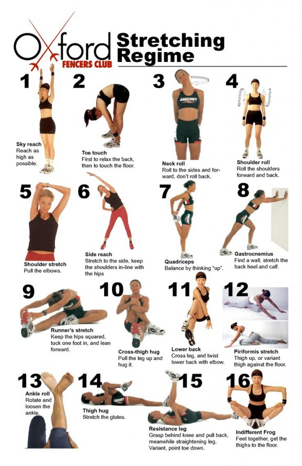 16 Weight Training Stretching Regime