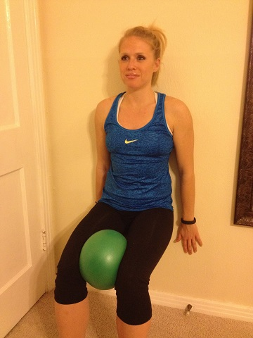 Wall Sit with Hip Adduction