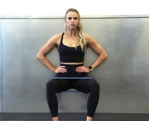Wall Sit with resistance band