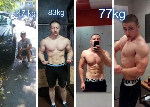 Todor Krastanov Skinny Teen Muscular Transformation