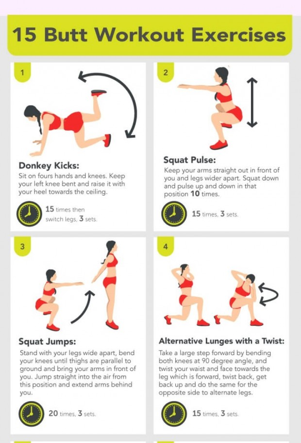 15 Butt Workouts at Home and Health Benefits