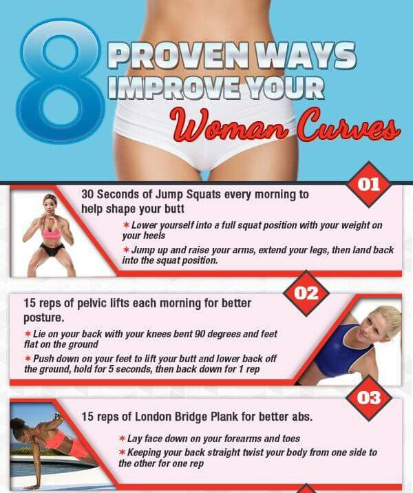 8 Proven Ways to Increase Woman Curves