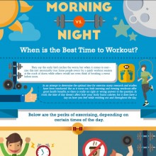 The Best Time To Workout Infographic