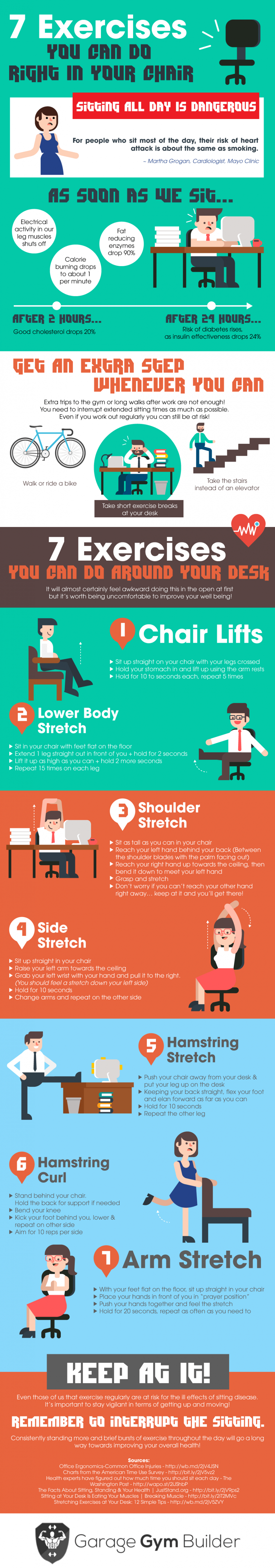 7 Exercises That Will Get You Out Of Your Chair