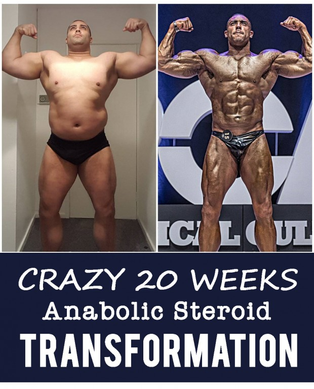 Crazy 20 Weeks Anabolic Steroid Body Transformation