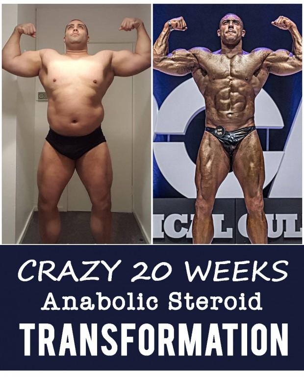 Crazy 20 Weeks Anabolic Steroid Body Transformation
