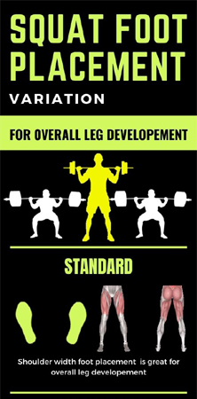 Squat Stance Foot Variation for Bigger Legs