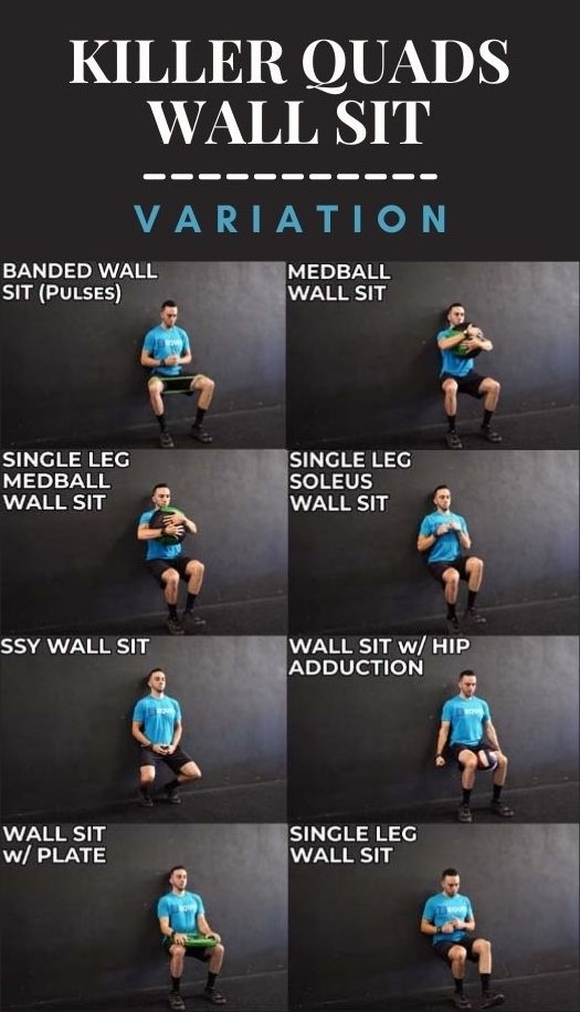 Top Wall Sit Variation for Killer Quads and Lower Body
